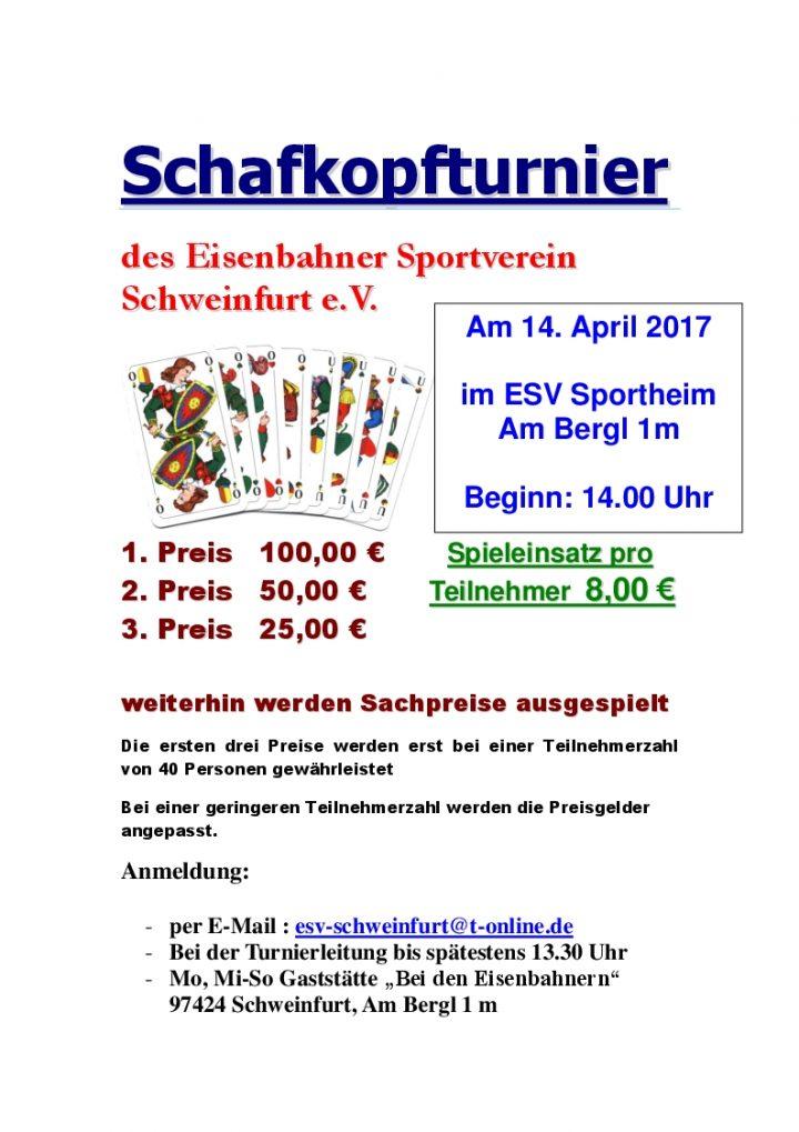 Schafkopfturnier Plakat 2017 nr2